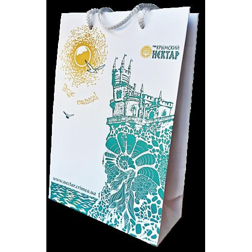 Пакет-сумка подарочный Ласточкино гнездо 250 х 350 мм
