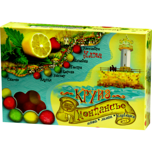 "Монпансье ""Мята-лимон-клубника"""